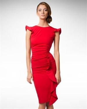 KS Fashion Ruffle Detail Dress Made In Europe