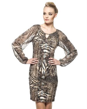 Miarte Animal Print Dress Made In Europe