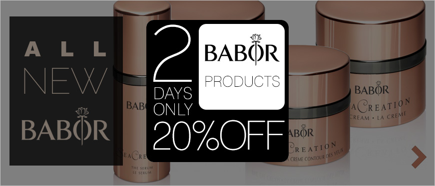 20% Off BABOR - 2 Days Only + All New BABOR SeaCreation