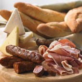Bread, Cheese and Meats Sampler