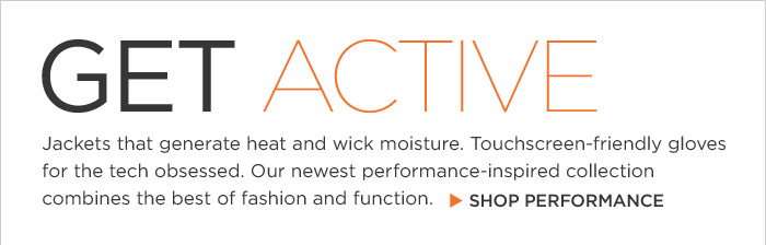 GET ACTIVE | SHOP PERFORMANCE