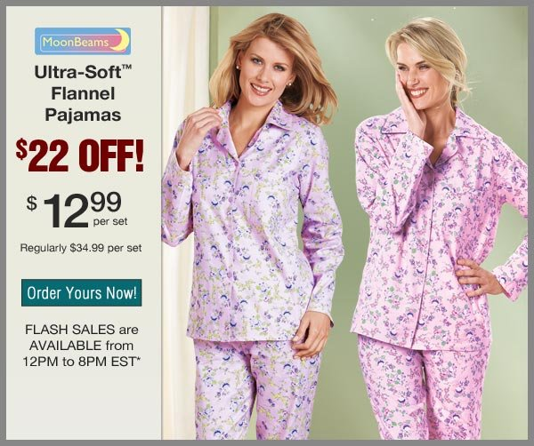 $22 OFF Flannel Pajamas