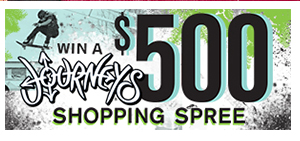 Enter to win a $500 shopping spree at Journeys!