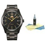 Orient ER21001B Men's Smart Black Dial Black Ion Plated Steel Automatic Watch with 30ml Ultimate Watch Cleaning Kit