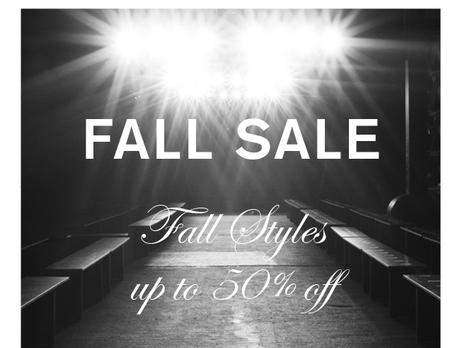 Fall Sale | up to 50% Off