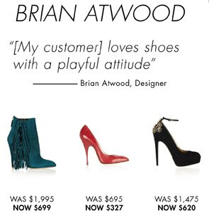 BRIAN ATWOOD 65% OFF
