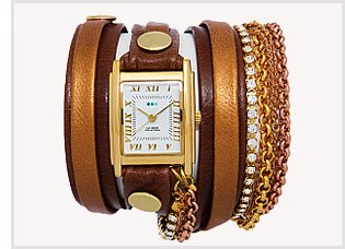 Diamond Crystal Link Layer Wrap Watch