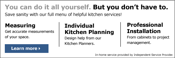 Learn more about our full menu of helpful kitchen services!