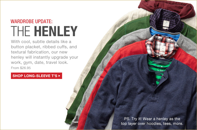 WARDROBE UPDATE: THE HENLEY | SHOP LONG-SLEEVE T'S