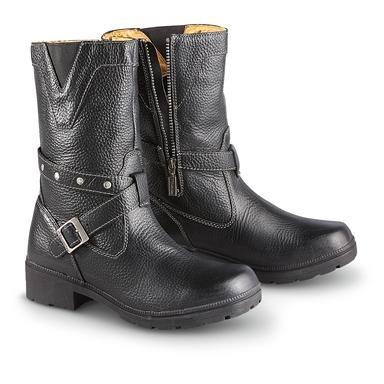 Women's Milwaukee Motorcycle® Leather Damsel Side-zip Motorcycle Boots