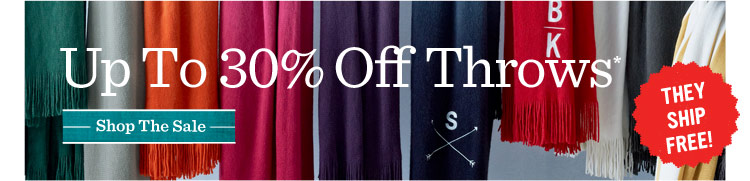 Up to 30% off throws* Shop the sale.