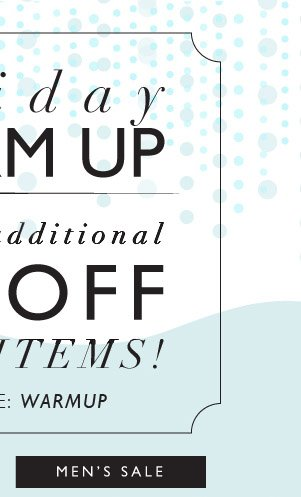 Holiday Warmup | 40% Off griffin Sale Items