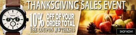Have 10% on us to Celebrate Thanksgiving!