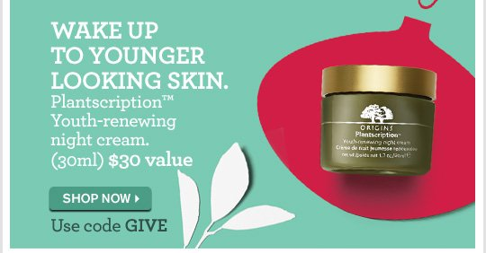 WAKE UP TO YOUNGER LOOKING SKIN PLANTSCRIPTION YOUTH RENEWING NIGHT CREAM 30ML 30 DOLLARS VALUE SHOP NOW
