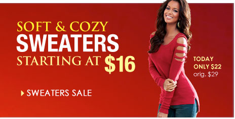 Soft and Cozy Sweaters - Starting at $16