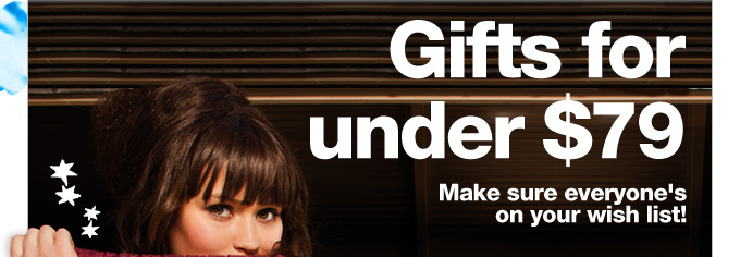 Gifts for under $79