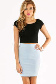 Short and Scoop Crop Top 14