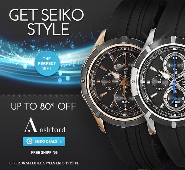 Seiko Watches Sale at Ashford.com!
