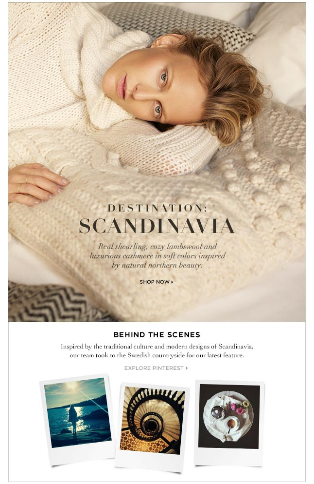 Destination Scandinavia: Our Newest Luxe Cashmere Collection
