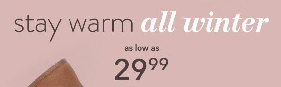 Stay warm all winter with women's cozy boots as low as $29.99!