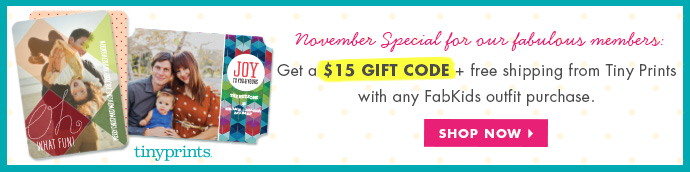Get $15 Off Tiny Prints With Any Outfit Purchase!