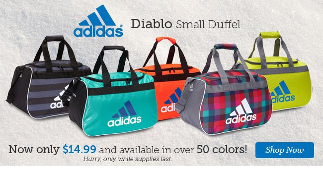 adidas Diablo Small Duffel. Now only $14.99 and available in over 50 Colors! Shop Now.