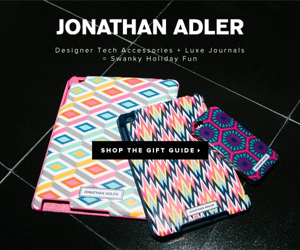 Jonathan Adler Designer Tech Accessories + Luxe Journals = Swanky Holiday Fun - - Shop the Gift Guide