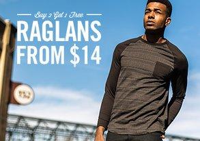 Shop Buy 2 Get 1 Free Raglans from $14
