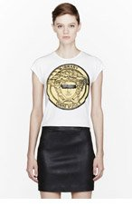 VERSACE White Censored logo T-Shirt for women