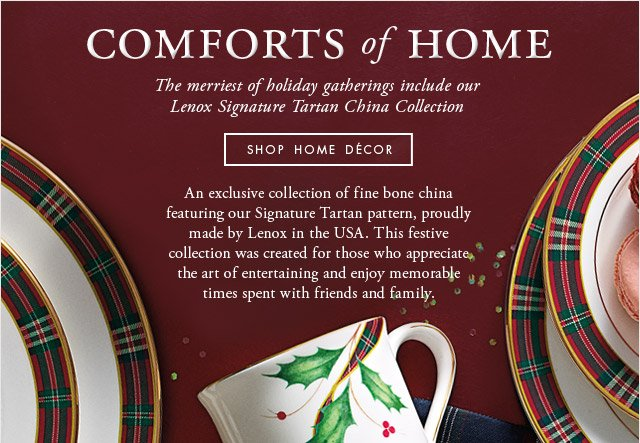 COMFORTS OF HOME - SHOP HOME DECOR