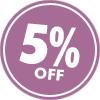 5% OFF