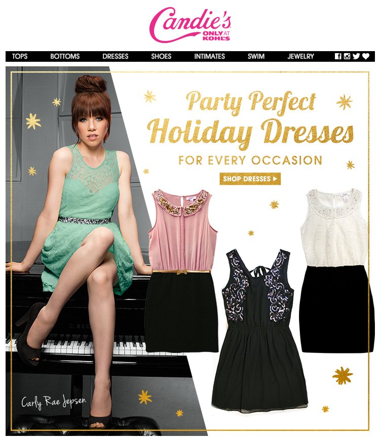 Candie's Holiday Dresses