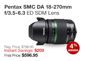 Pentax-DA 18-270mm Lens