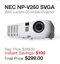 NEC 3D Mobile Projector
