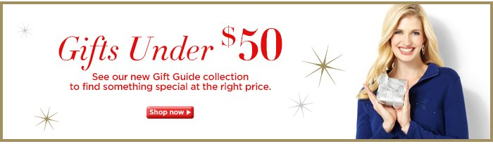 Find holiday gifts under $50