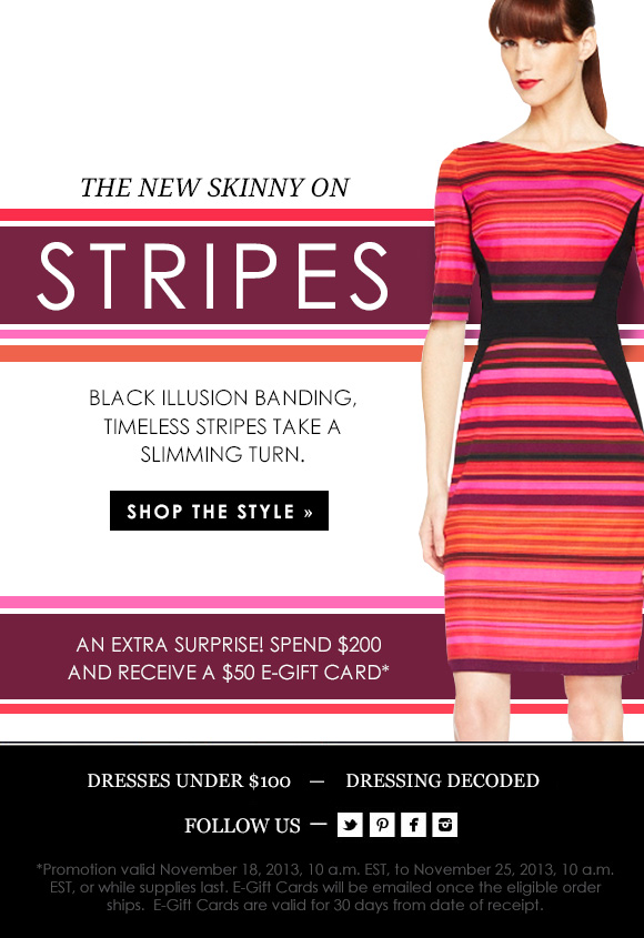 The New Skinny on Stripes