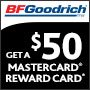 BFGoodrich Upgrade Your Drive and Get a $50 MasterCards
