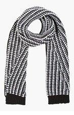 CALVIN KLEIN COLLECTION SSENSE EXCLUSIVE Black & White Bowes Stitch Scarf for men