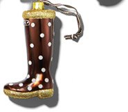 HENRI BENDEL POLKA DOT WELLIE ORNAMENT