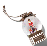 Miss Bendel Nutcraker Snowglobe Ornament