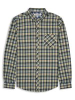 Laundered Multi Texture Gingham Check Shirt