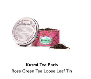 Kusmi Tea Paris Rose Green Tea Loose Leaf Tin