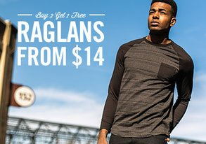 Shop Buy 2 Get 1 Free Raglans from $14