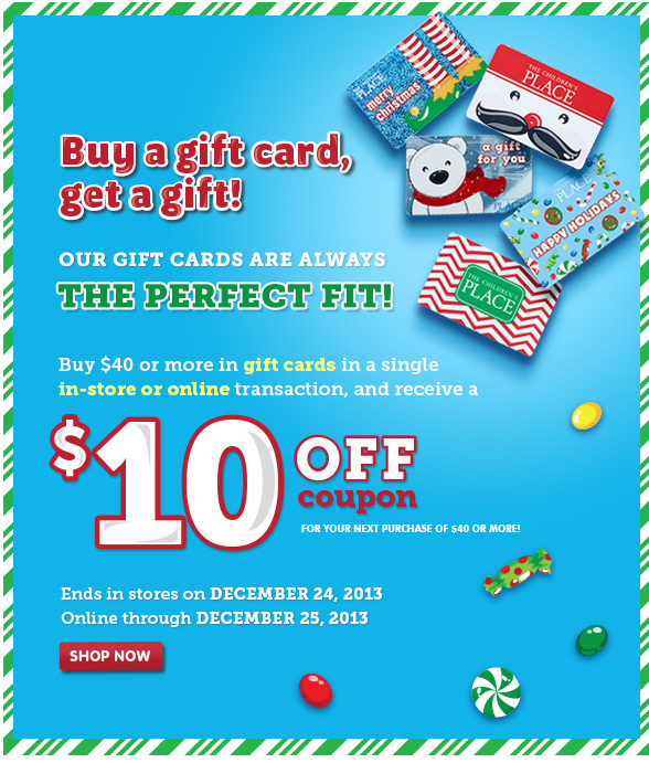 Buy A Gift Card, Get A Gift!