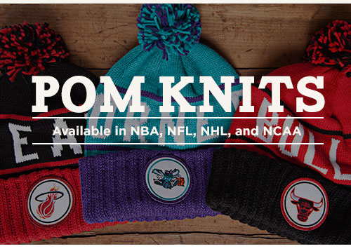 Pom Knits - Available in NBA, NHL, NFL and NCAA