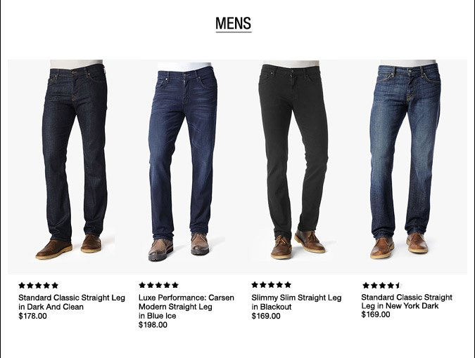 Top Rated Customer Favorites - Mens