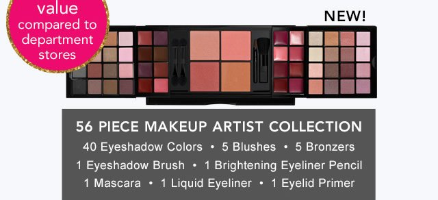 56 Piece Makeup Artist Collection