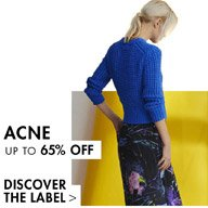 ACNE - SHOP UP TO 65% OFF