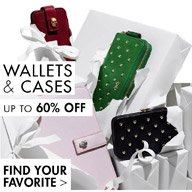 UP TO 60% OFF WALLETS & CASES
