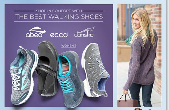 Shop in the comfort of our best walking shoes from ABEO, ECCO, Dansko and more great brands! We'll pay your tax on any regular priced footwear purchase (excludes UGG® Australia) through November 24th.* Plus, find ongoing savings and more great deals when you shop online and in-stores at The Walking Company.